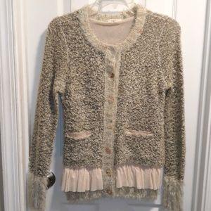 Mystree knit cardigan w. ruffles sz.S